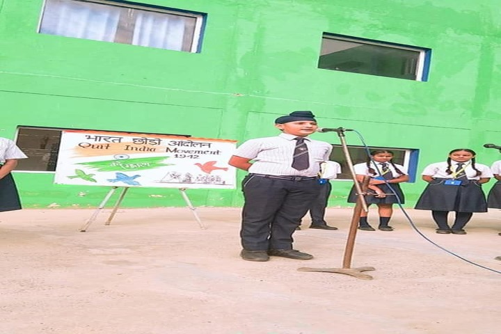 J R Millennium School-Quit India Movement