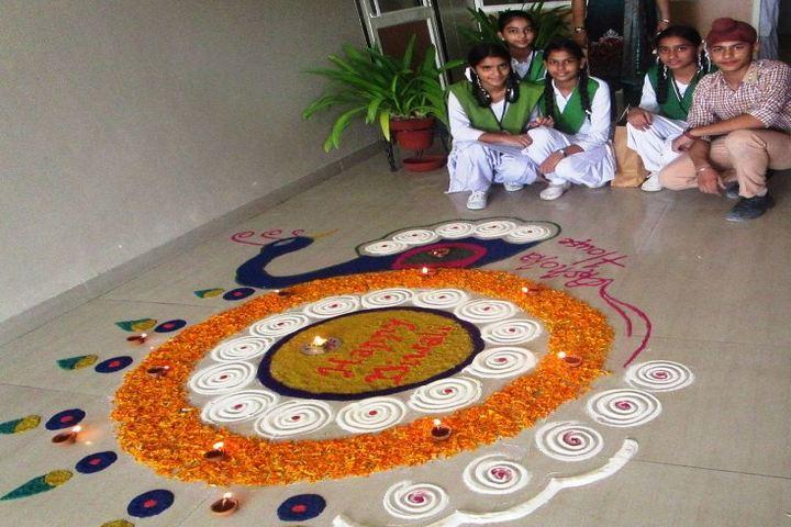 Khalsa College International Public School-Rangoli