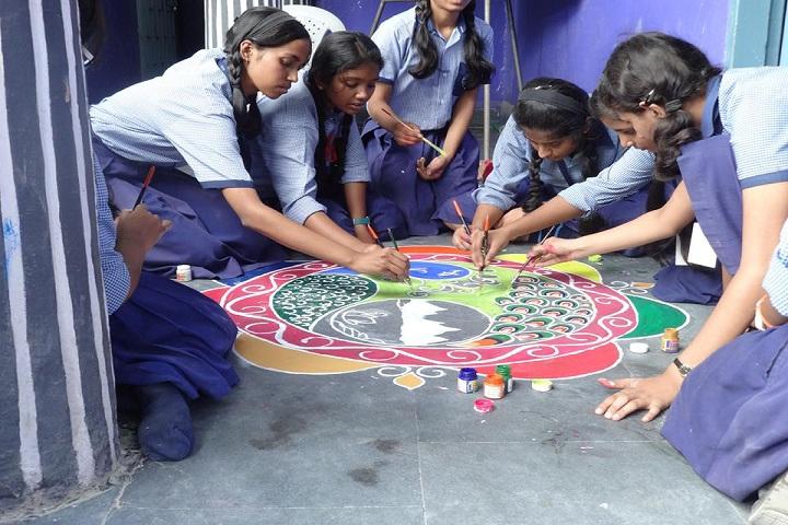 Ishan International Public School-Rangoli Competition