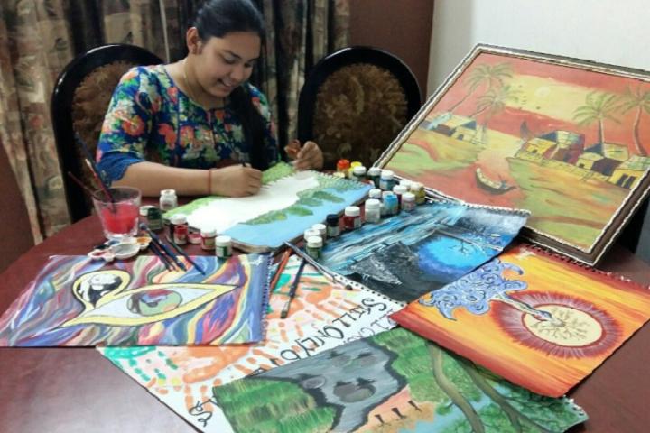 L R S DAV Senior Secondary Model School-Painting