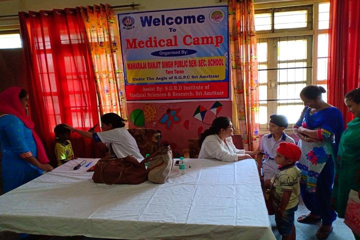 Maharaja Ranjit Singh Public Senior Secondary School-Medical Camp