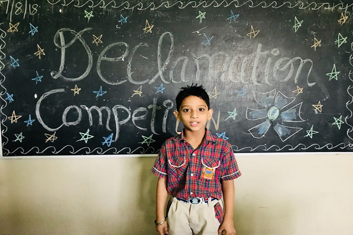 Malvi Devi Dayanand model School-Declamation competition