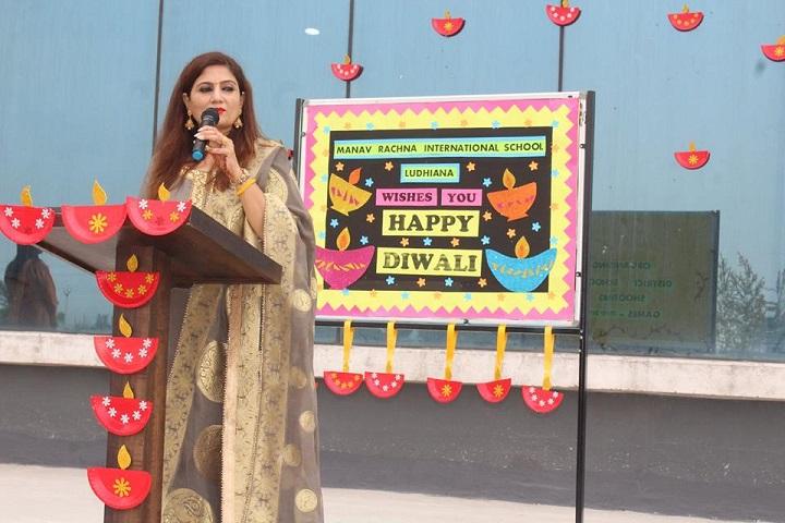 Manav Rachna International school-Principal words about Diwali