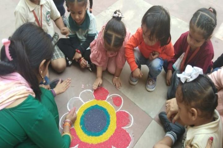 Manav Sehyog School-Rangoli