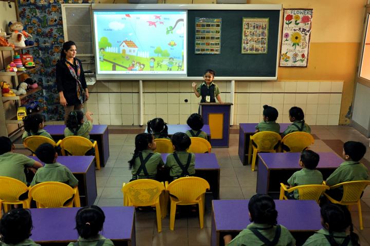 Mata Gujri Public School-Kids AV class