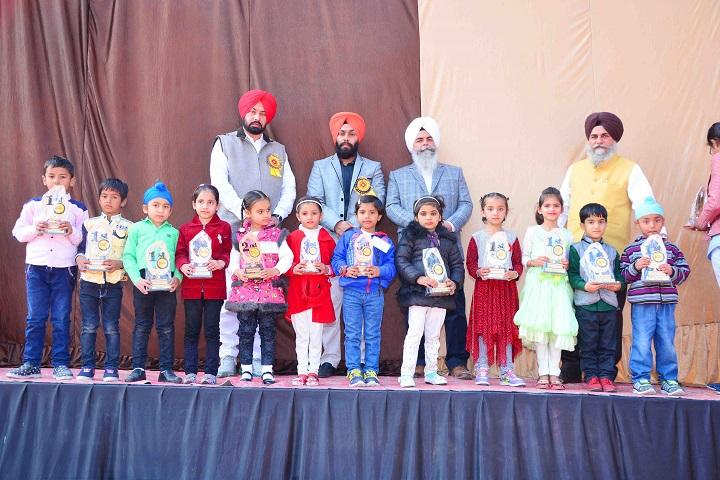 Mata Sahib Kaur Public School-Kids with Trophies
