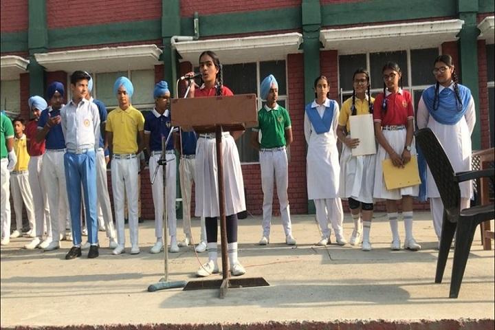 Mata Sahib Kaur Public School-Student Speech