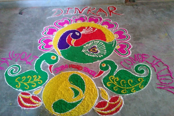 Jajba World School-Rangoli Competition