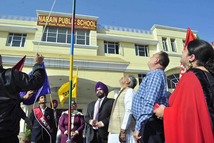 Narain Public School-Flag Hosting
