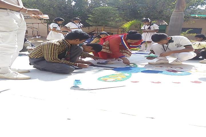 Noble Heart School-Rangoli