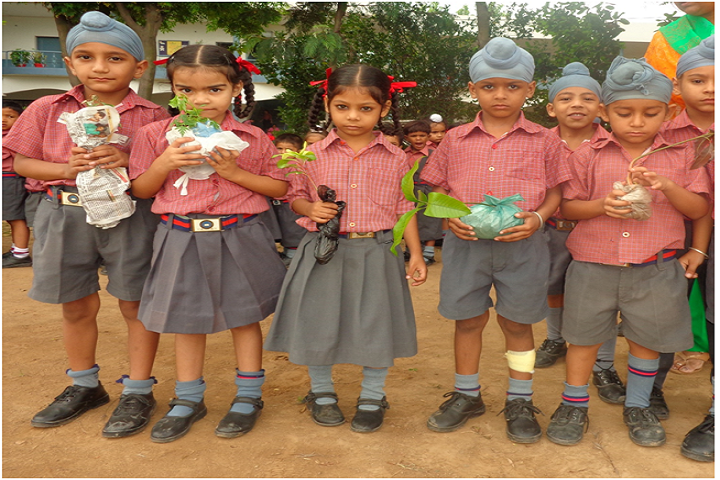 Panjab National Public School-Students Tree Plantation