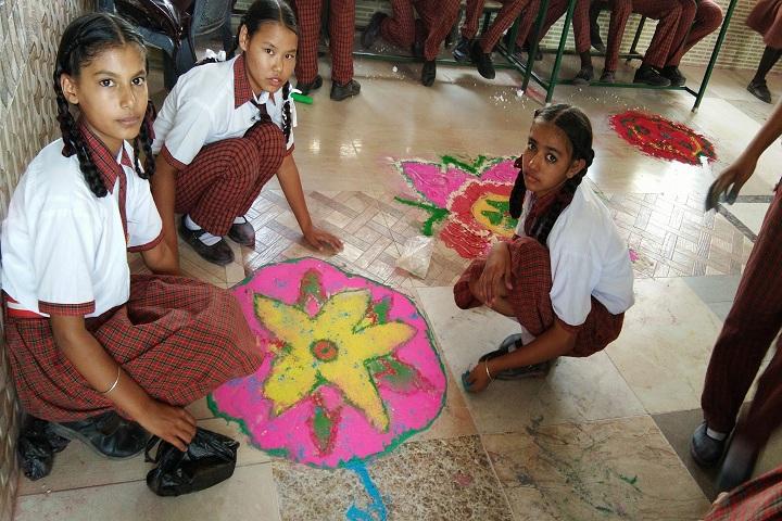 Punjab Public School-Rangoli Compitition