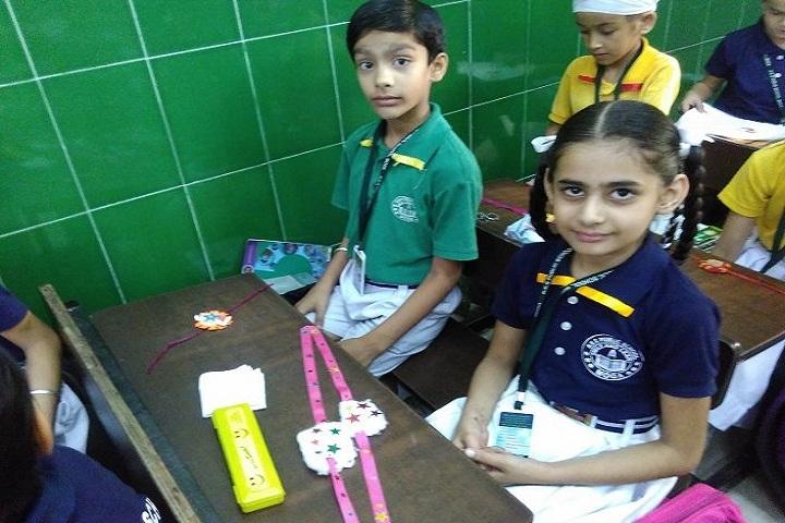 R K S Senior Secondary Public School-Rakhi making Compitition