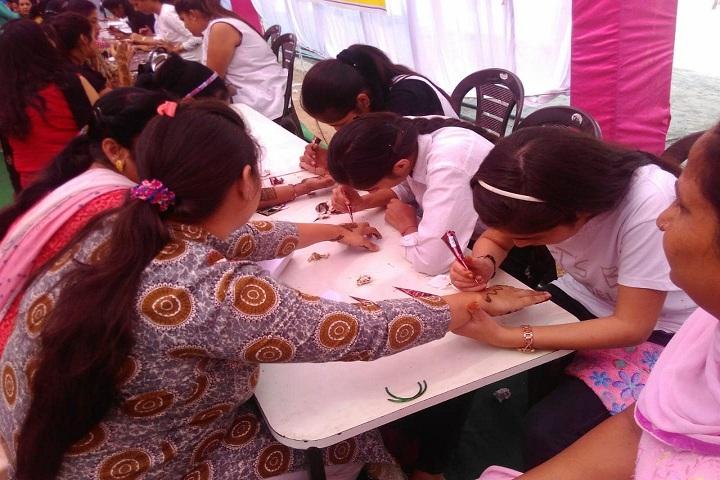 R K S Senior Secondary Public School-Rangoli competition