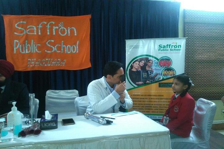 Saffron Public School-Medical Check Up
