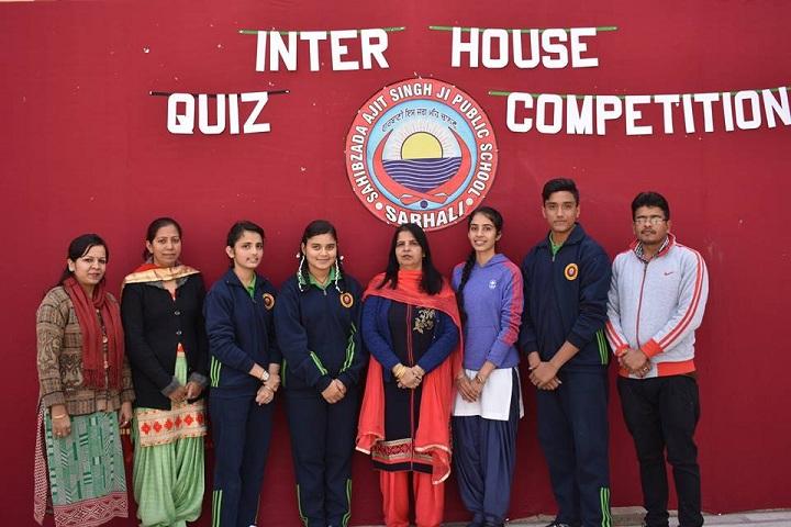 Sahibzada Ajitsingh Ji Public School-Quiz Compitition