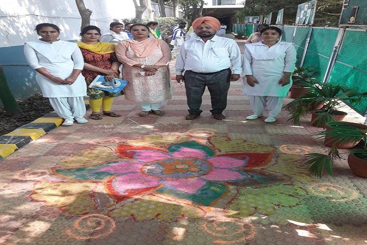 Saint Kabir Convent Day Boarding Senior Secondary School-Rangoli Compitition