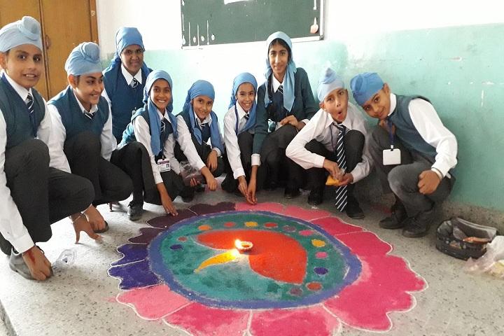 Sant Kirpal Singh Sewa Panthi Public School-rangoli