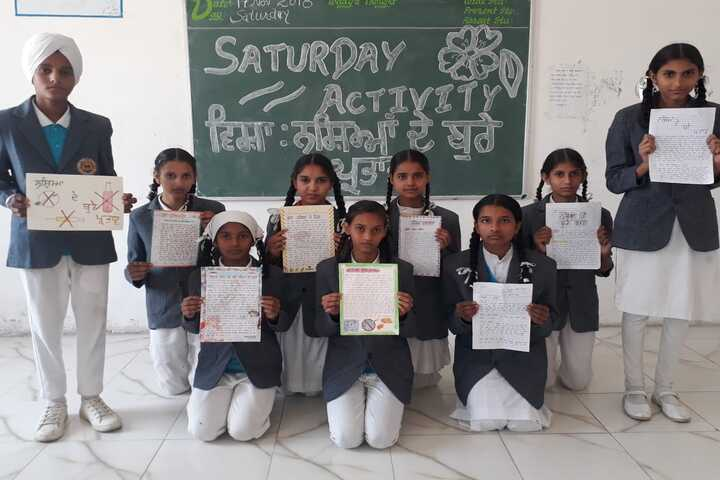 S B S Public School-Classroom Activity