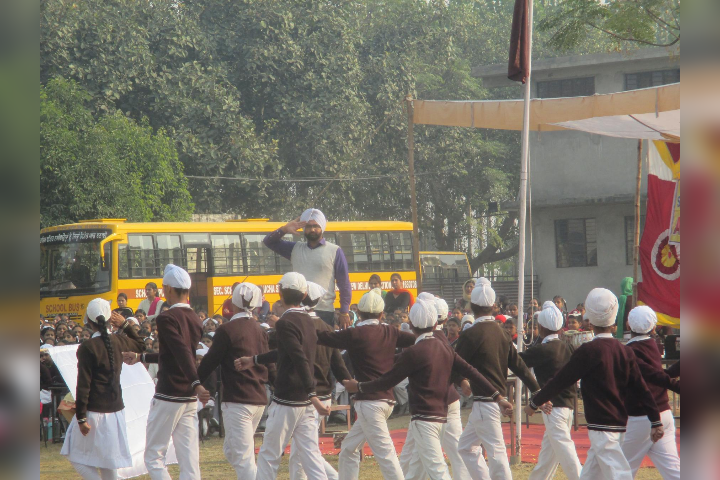 Student Marching on Annual Day