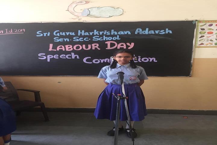 Shri Guru Harkrishan Adarsh Senior Secondary School-Speech Competition