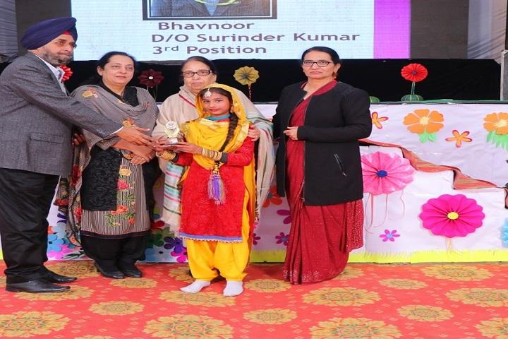 Shri Guru Nanak Dev Public School-Prize