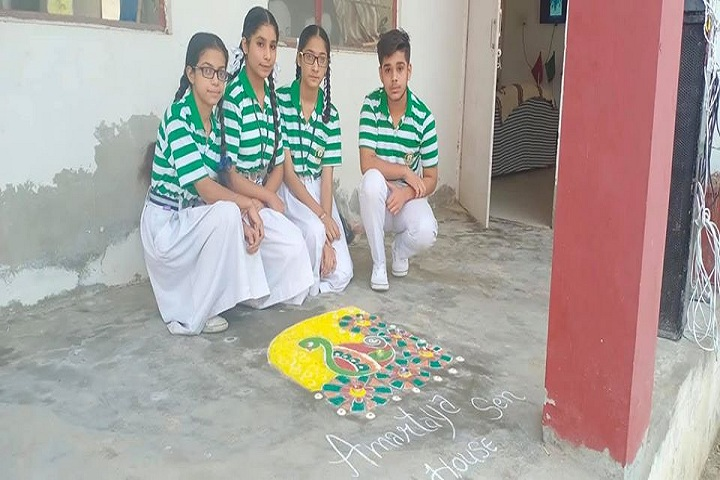 Shri Guru Nanak Dev Public School-Rangoli Competition