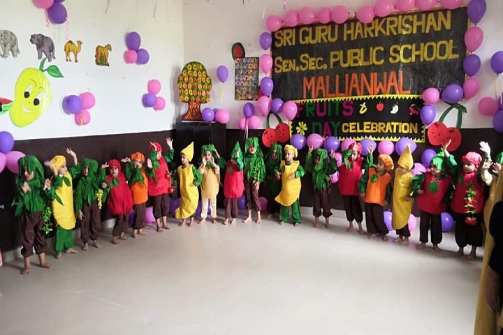 Sri Guru Harkrishan Public School-Fruits Day
