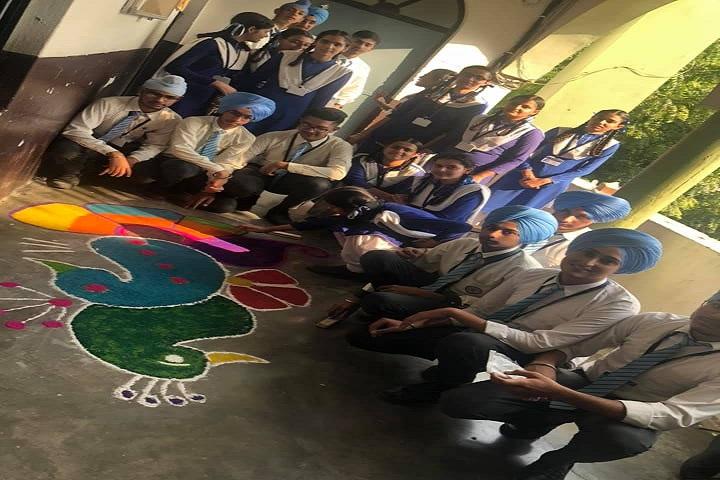 Sri Guru Harkrishan Public School-Rangoli Competition
