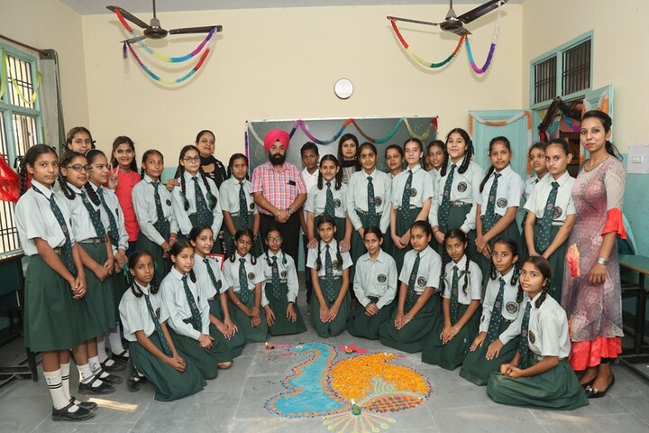 The Paradise International Senior Secondary School-Rangoli Competition