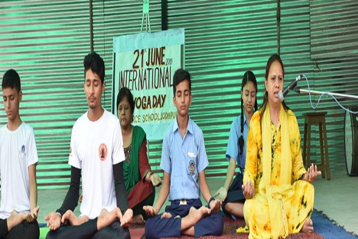 Air Force School-Yoga day