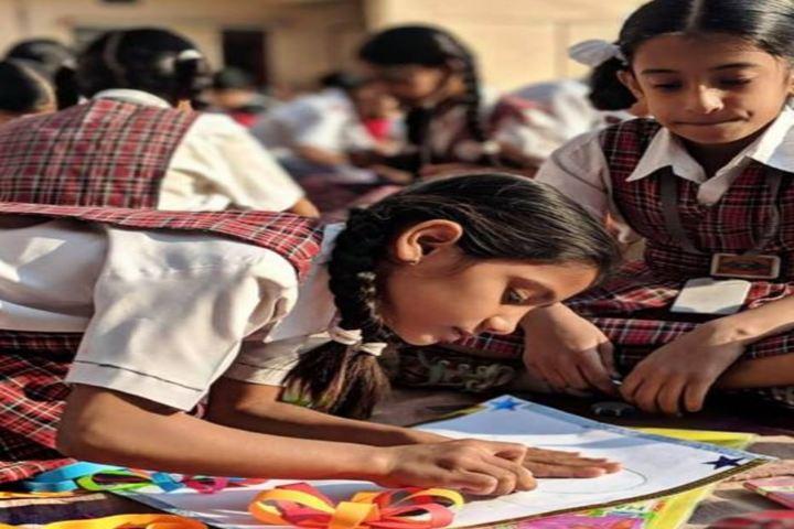 Alok Senior Secondary School-Collage Making Competetion