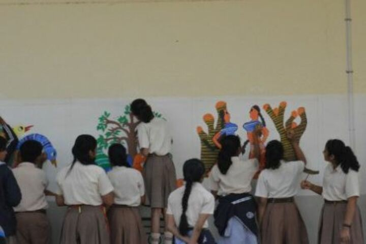 Alwar Public School-Inter House Graffiti Competition