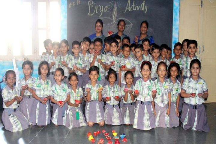 B.S. Memorial School-Diya Decoration Activity