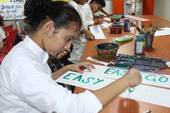 Birla International School Kishangarh-Calligraphy Competetion