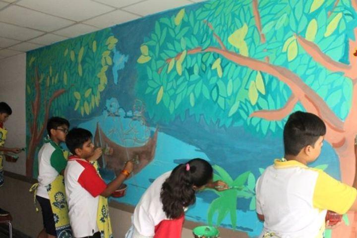 Birla International School Kishangarh-Wall painting