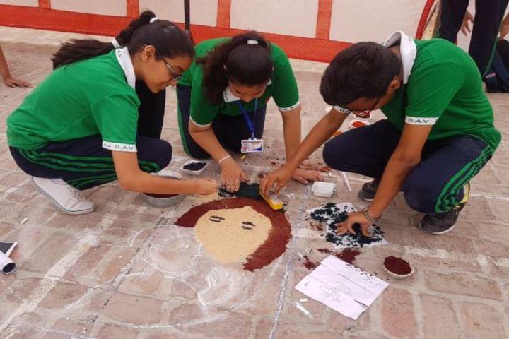 DAV Centenary Public School-Rangoli
