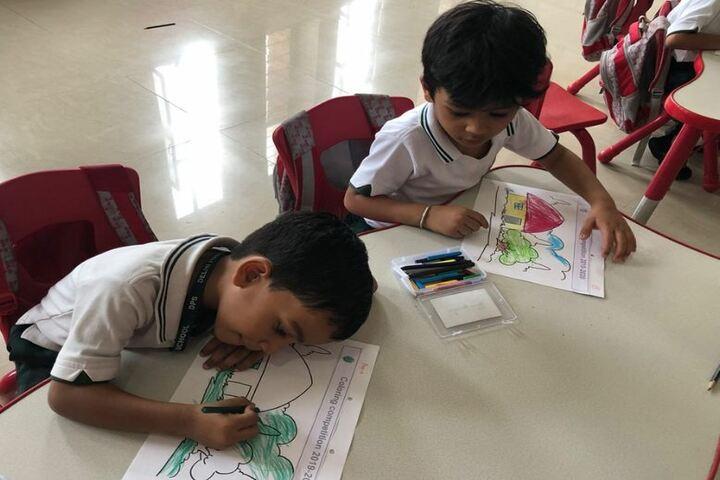 Delhi Public School-Colouring Competetion