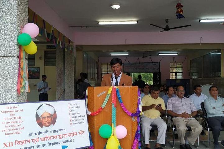 Jawahar Navodaya Vidyalaya-Student Speech