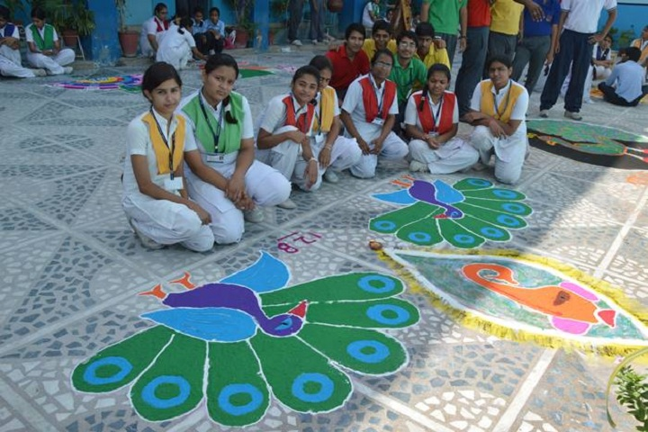K D Jain Public School-Rangoli