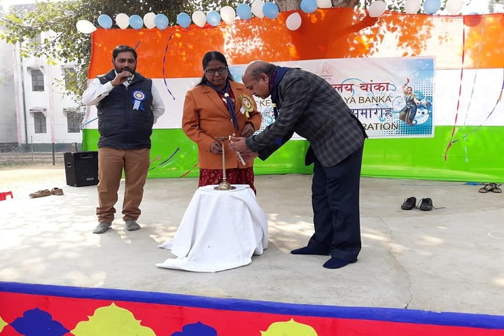 Kendriya Vidyalaya School-Lighting the lamp