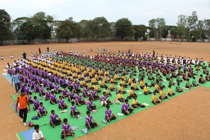 Bharatiya Vidya Bhavans Residential Public School-Yoga Day