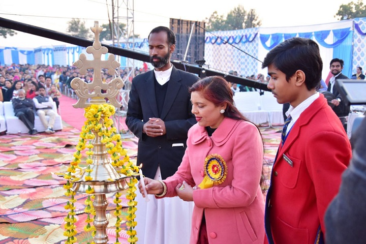 Little Flower Convent School-Lighting the lamp