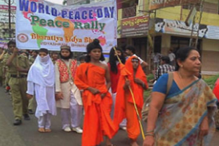 B V Bhavans International Residential Public School-Peace Rally