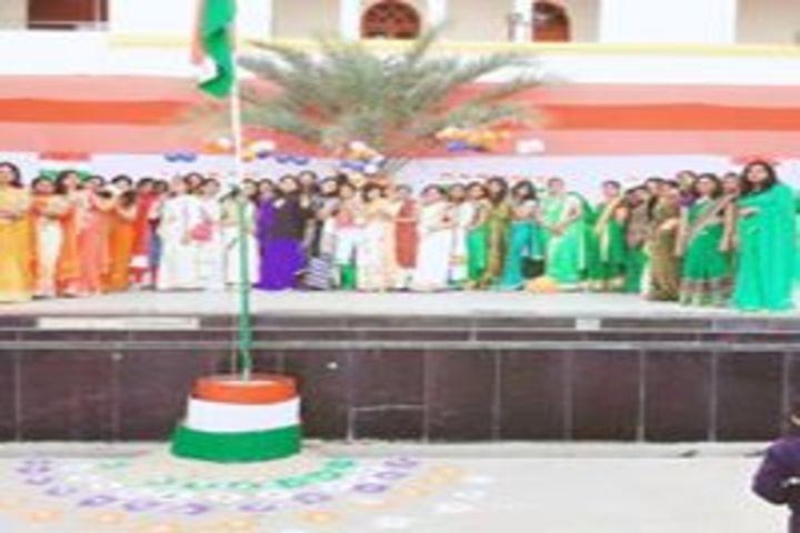 Noble International School-Flag hoisting
