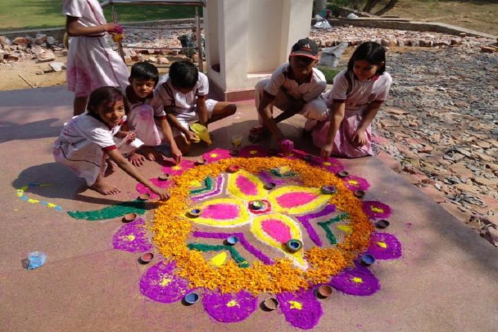 Raghav World School-Rangoli competition