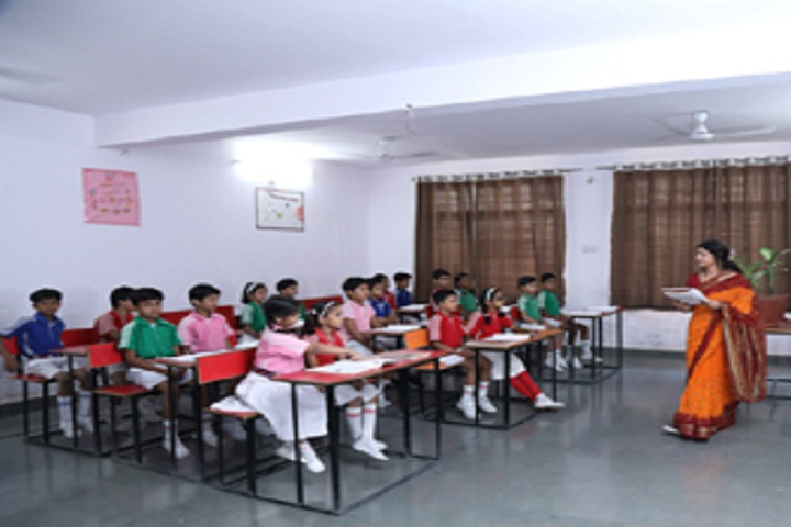 Shiv Jyoti International School-Classroom with teacher