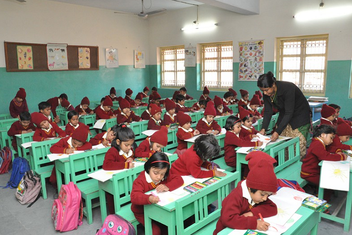 Sophia Secondary School-Classroom with teacher