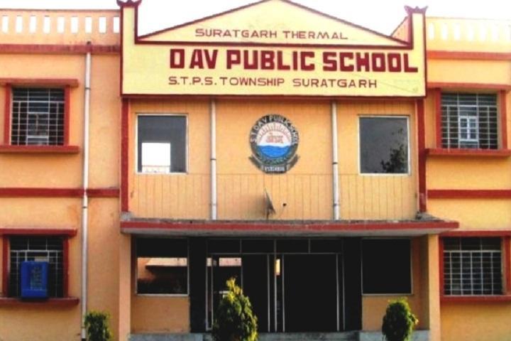 Suratgarh Thermal Dav Public School-Campus-View front