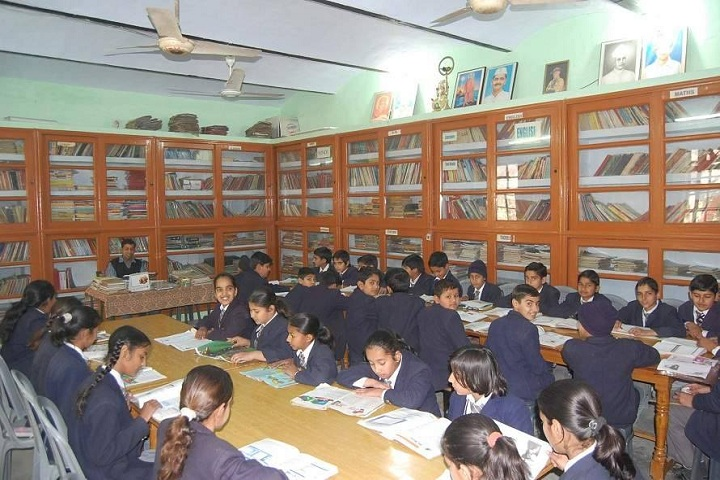 Swami Keshwanand Memorial Public School-Library with students